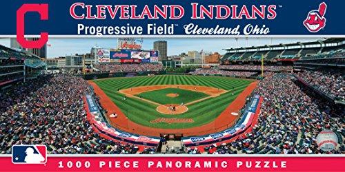 MasterPieces MLB Cleveland Indians Stadium Panoramic Jigsaw Puzzle, 1000-Piece