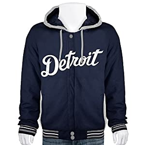 Detroit Tigers MLB Navy Blue Reversible Hooded Jacket by MLB JH Design Group