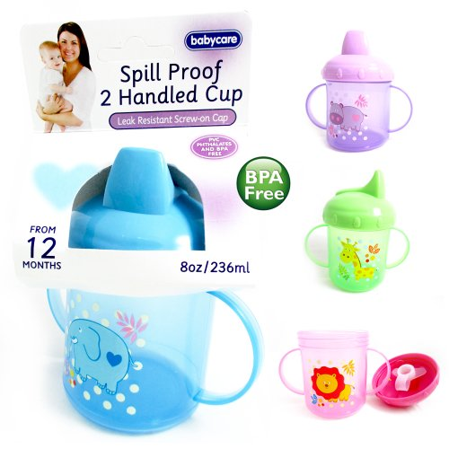 New Sippy Drinking Cup No Spill Design Bpa Free 8Oz Handles 12M+ Baby Toddler ! front-401252