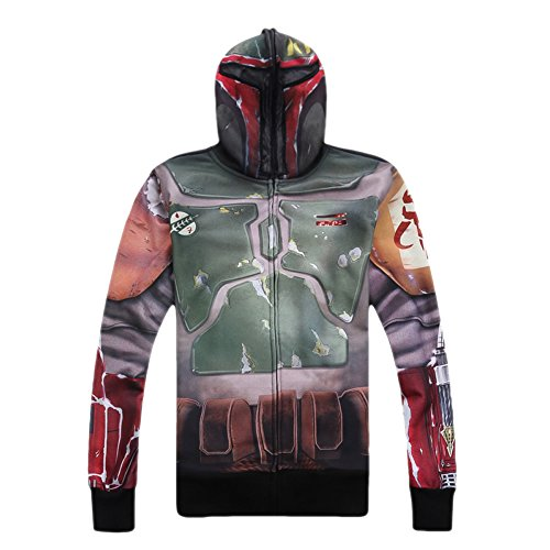 XCOSER Bounty Hunter Hoodie for SW cosplay Bounty Hunter Costume Hoodie For Men