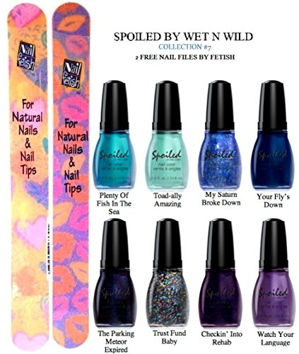 WET-N-WILD-Spoiled-Nail-Color-COLLECTION-7-OF-8-Shades-Plus-2-Free-Nail-Files-From-fetish-for-Natural-Nails-And-Nail-Tips