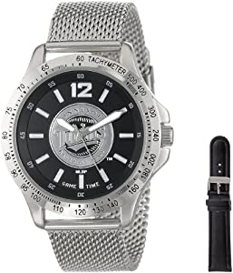 Game Time Mens MLB-CAG-MIN Cage MLB Series Minnesota Twins 3-Hand Analog Watch by Game Time