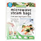 25 X Microwave Steam Bags - Large 3-6 Servings. Healthy, Easy Cooking