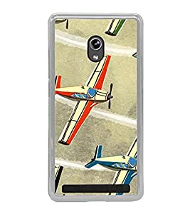 Aeroplanes 2D Hard Polycarbonate Designer Back Case Cover for Asus Zenfone 6 A600CG