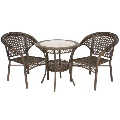 Malibu 3-Piece Wicker Bistro Set picture