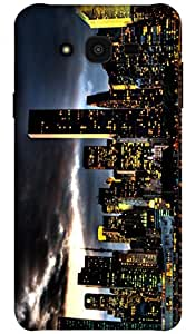 The Racoon Lean printed designer hard back mobile phone case cover for Samsung Galaxy J7. (NYC NIGHT)