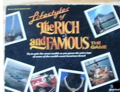 Lifestyles of the Rich and Famous 1987 Board Game