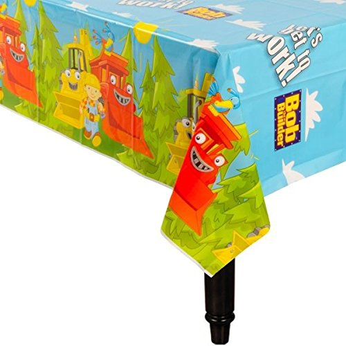 "Amscan Bob The Builder Table Cover Party Supply, 54 x 102"", Blue"