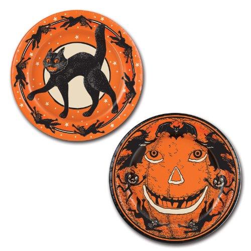 Beistle Halloween Plates, 9-Inch, Orange