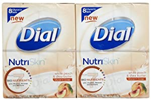 Dial Nutriskin Glycerin Bar Soap, White Peach and Shea, 32 oz