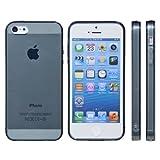 mtmd decolor tpuハードシリコン iphone SE/5/5sケース つるつるタイプ/スモーク