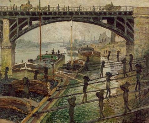Oil Painting 'The Coal-Dockers, 1875 By Claude Monet' Printing On High Quality Polyster Canvas , 10x12 Inch / 25x31 Cm ,the Best Garage Gallery Art And Home Decor And Gifts Is This High Quality Art Decorative Canvas Prints (Marvel Studios 12 Inch Blade compare prices)