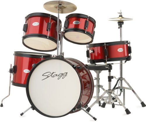 stagg-tim-jr-5-16-rd-5-piece-junior-drum-set-with-hardware