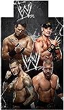 WWE 137 x 198 cm 50 Percent Cotton/ 50 Percent Polyester All Stars Single Duvet Cover Set, Black
