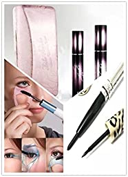 Sealive Love 3D Fiber Pink Eyelash Mascara Set Transplanting GEL+ Black 3D Fiber lashes ,3 Steps Makeup with Big Eyes