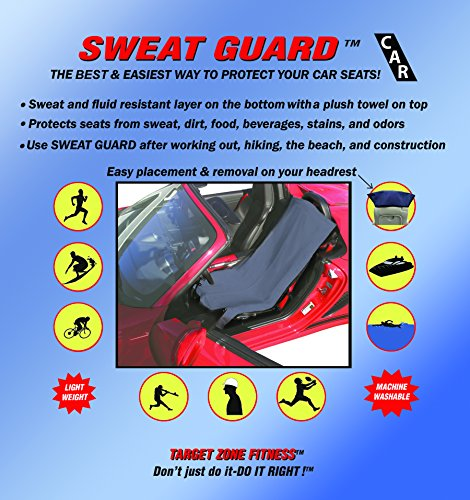 Sweat Guard Car Water Proof Seat Cover High Quality Low Price, Protects Car and Boat Seats From Sweat, Fluids, Dirt, and Odors after Sports, Swimming, Surfing, Kids Sports, Pets, House and Garden Work (Happeseat Car Seat Cover compare prices)