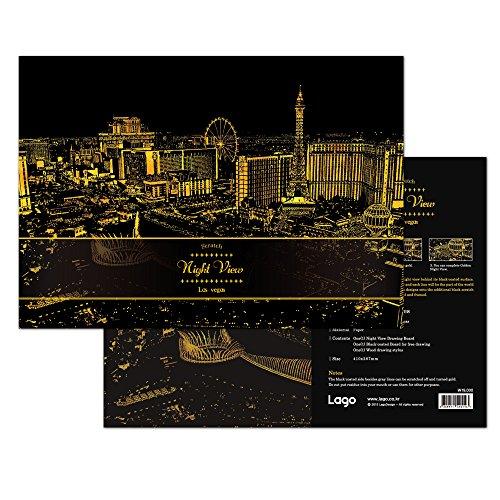 [ラゴデザイン] スクラッチ ナイトビュー ラスベガス Scratch Night View Las Vegas