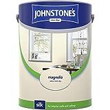 Johnstones No Ordinary Paint Water Based Interior Vinyl Silk Emulsion Magnolia 5 Litre
