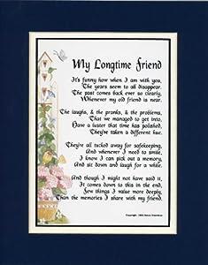 "Amazon.com - ""MY LONGTIME FRIEND"" Framed (Solid Oak) 8x10 Poem, Double ..."