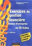 echange, troc Christian Zambotto, Corinne Zambotto - Exos, Tome : Exercices de gestion financière : Finance d'entreprise