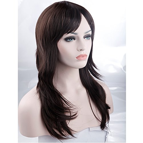 S-noilite Trendy Dark Brown Wig Full Head Layered Hair Wigs Women Lady Girl Daily/Party Wig Dress (Brown Braided Wig)