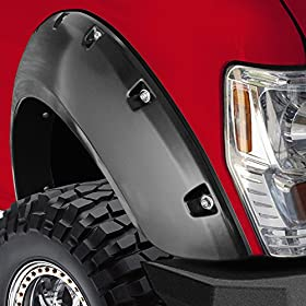 """OxGord 4pc Set Fender Flares Fits Chevrolet 99-07 Silverado 00-06 Chevy Avalanche Suburban 1500/2500/3500 GMC Sierra/Yukon XL 15/25/35 HD Bolt On Pockets Off Road Matt Black Style """"OEM Paintable Factory Replacement"""" Kit for Front, Rear, Left & Right Pairs 