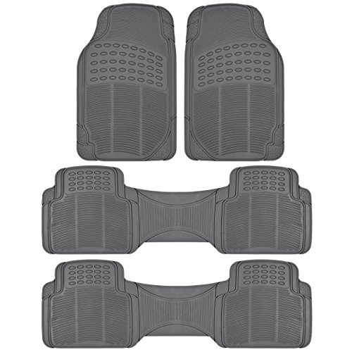 BDK All Weather Black Vinyl Non-slip Trimmable Truck SUV Van Floor Mats 4 pcs - GRAY (4 Pc Car Mats compare prices)