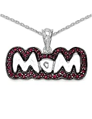 Mother's Day Special: 1.53CTW Genuine Ruby .925 Sterling Silver Pendant