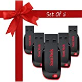 Standard Sandisk Cruzer Blade CZ50 USB Flash Drive Pack Of 5 16GB USB 2.0 Pendrive