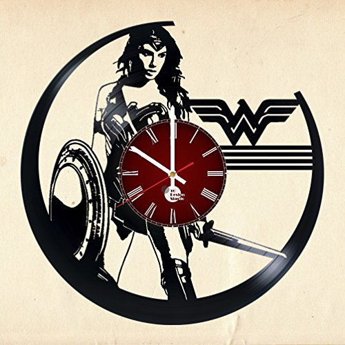 Wonder-Woman-Vinyl-Record-Wall-Clock-Get-unique-living-bed-room-wall-art-dcor-Gift-ideas-for-girlfriend-sister-kids-Unique-movie-art-design-Leave-us-a-feedback-and-win-your-custom-clock