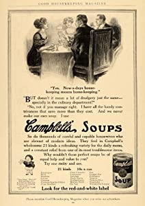 1912 Ad Campbell's Soup Canned Food Dining Table - Original Print Ad