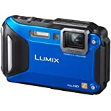 Panasonic Lumix DMC-FT5EB-A Compact Camera - Blue (16.1MP, 4.6x Optical Zoom with Leica DC Lens, Wi-Fi with NFC, 28mm Wide Angle, 12m Waterproof, 2m Shockproof, Freeze-Proof)