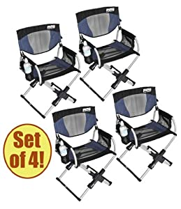 Set of 4 - PICO ARM CHAIR Telescoping Director's Chair
