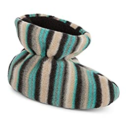 Acorn A10811 Kids Easy Bootie Slipper,Neutral Fun Stripe,TXXL
