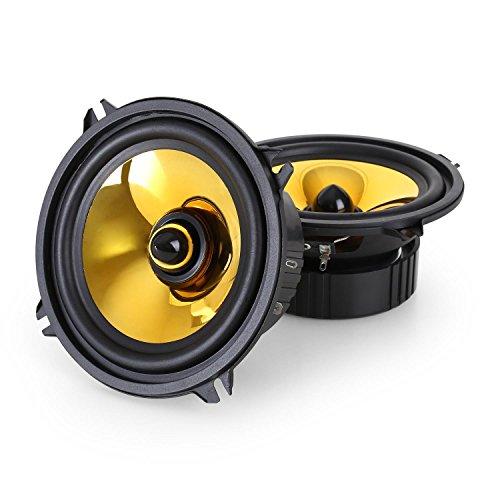 Auna-Goldblaster-Paar-13cm-5-Zoll-Auto-Lautsprecher-Boxen-Set-1000-Watt-goldene-Membrane-100Hz-bis-20kHz-89dB