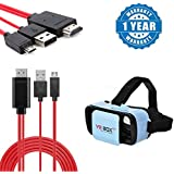 Captcha Gionee Marathon M5 PlusÊ Compatible Certified MHL Micro USB To HDMI 1080P HDTV Adapter Converter Cable With Mini-3D Vr Box Virtual Reality Headset (Resin Hq Lenses) (1 Year Warranty)