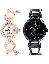 CB Fashion Combo Of Analog Multicolour Dial Women's Watch (RW169)