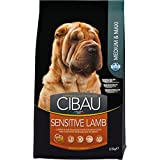 Farmina Cibau Sensitive Lamb Adult Dog Food, 2.5 Kg (Medium/Maxi)