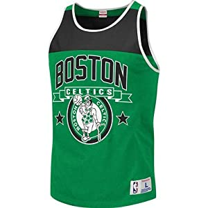 Boston Celtics Mitchell & Ness Color Blocked Tank Top by Mitchell & Ness