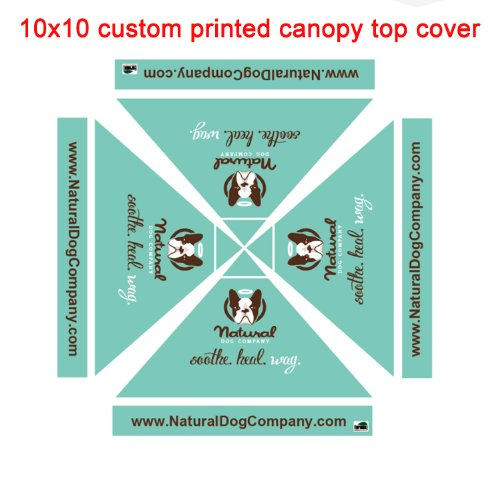 Eurmax Custom Tents Custom Printed Canopy Top Cover Only (10X10) front-1070592