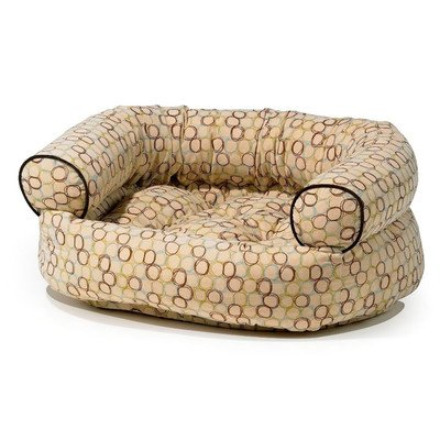 """Double Donut Bolster Pet Bed Size: X-Large (48"""" W x 38"""" D), Color: Tranquility"""