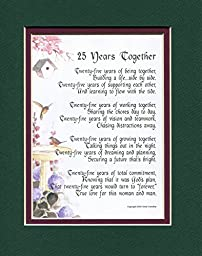 A Gift Present Poem For A 25th Wedding Anniversary #117,