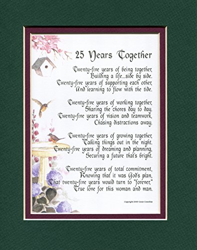 25th Wedding Anniversary Gift For Sister : Gift Present Poem For A 25th Wedding Anniversary #117,