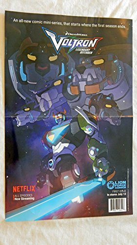 Voltron Legendary Defender 17 x 11 Folded Promo Poster - Lion Force Comics - 9.5 Grade - Brand New Poster