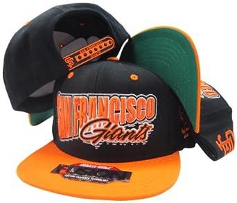 San Francisco Giants Black Orange Fusion Angler Snapback Hat Cap by American Needle