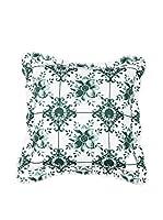 Casa di Bassi Cojín Con Relleno Extraíble Mosaik (Verde)