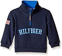 Tommy Hilfiger Baby Boys\'\' L/s 1/2 Zip Heavy Jersey Knit, Swim Navy, 24 Months
