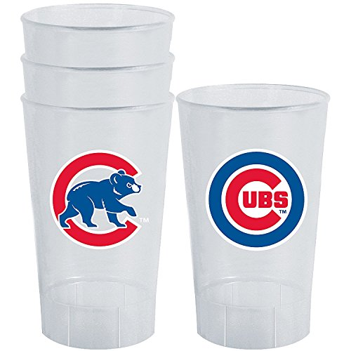 MLB Chicago Cubs 16oz Plastic Tumbler Set (Cubs Beer Glasses compare prices)