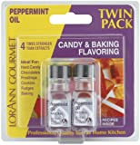 Candy & Baking Flavoring .125 Ounce Bottle 2/Pkg-Peppermint Oil