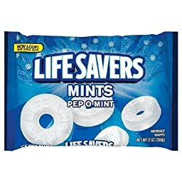 LifeSavers Pep O Mint Mints, 13 oz. Bag, Pack of 2